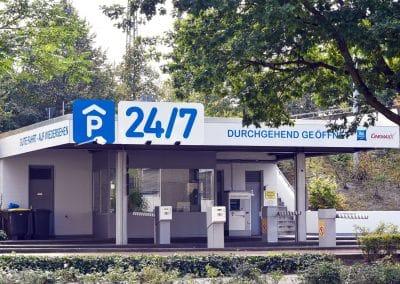 P24/7 Parkhaus - Zufahrt